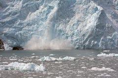 exploderande glaciär Arkivbild