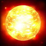 Exploderande planet. Royaltyfri Foto