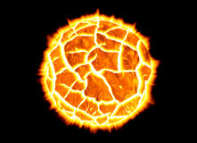 exploderande planet Royaltyfri Fotografi