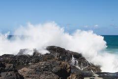 Exploderande vågor, Fuerteventura Royaltyfri Fotografi