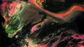 Exploderar magisk färgpulvermålarfärg för den abstrakta mystiker spridning arkivfilmer