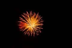 Exploderend vuurwerk Stock Foto's