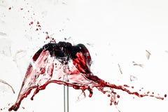Exploderend wijnglas Stock Fotografie