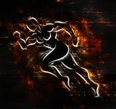 Exploderende atleet Stock Afbeelding