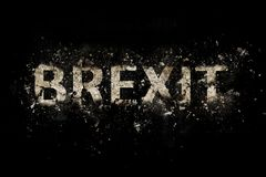 Exploderende Brexit-Tekst royalty-vrije illustratie