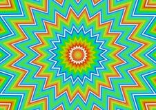 Exploderende regenbogen vector illustratie