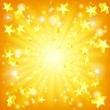 Exploderende sterrenachtergrond Stock Afbeelding