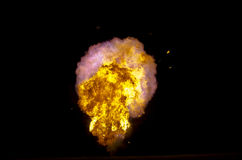 Exploderende vuurbol Royalty-vrije Stock Afbeeldingen