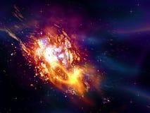 Explodieren des Sternes im Raum Stockbilder