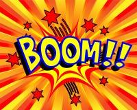 Explodierender Karikatur-Boom Stockfotos