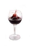 Explodierender Rotwein lizenzfreies stockfoto