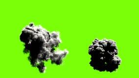 Explodiert auf grünem Hintergrund vektor abbildung