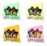 Exploding Art Logo Designs Royalty Free Stock Images