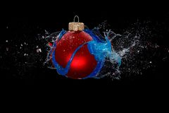 An exploding bauble Royalty Free Stock Image