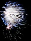 Exploding blue fireworks Royalty Free Stock Image
