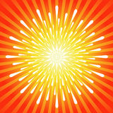 Exploding Burst Background. Abstract Exploding Fireworks - Burst Background Stock Photo