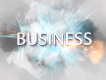 Exploding business text logo Stock Image