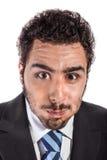 Exploding businessman Stock Photography