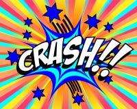 Exploding Cartoon Crash Royalty Free Stock Photo