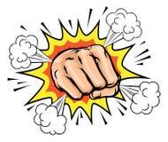 Exploding Cartoon Fist Stock Image