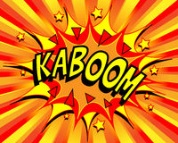 Exploding Cartoon Kaboom. Text caption vector illustration Stock Images