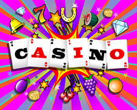 Exploding Casino Background Royalty Free Stock Images