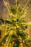Exploding christmas tree Royalty Free Stock Images