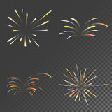 Exploding colorful fireworks Royalty Free Stock Images