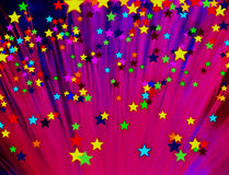 Colorful Stars. Lots of bright colorful stars Stock Photography