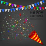 Exploding Confetti Popper birthday party Royalty Free Stock Images