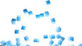 Exploding Through 3D Block Wall stock video