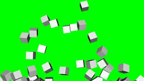 Exploding Through 3D Block Wall stock footage