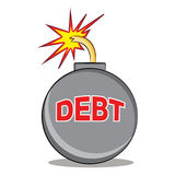 Exploding Debt Stock Images