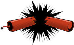 Exploding Dynamite/ firecracker Stock Image