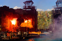 Exploding. This is a exploding of film scenes of WaterWorld Stock Photos