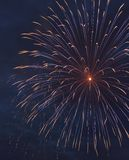 exploding firework Στοκ Φωτογραφία