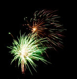 Exploding fireworks Royalty Free Stock Photo