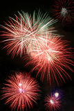 Exploding Fireworks. Fireworks Exploding at Night Royalty Free Stock Photo