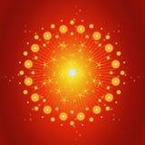 Exploding Fireworks Background Stock Image