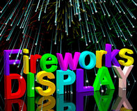 Exploding Fireworks Display For New Years Or Independence Celebr. Ation Royalty Free Stock Photography