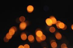 Exploding fireworks orange dots Stock Photography