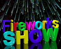 Exploding Fireworks Show For New Years Or Independance Celebrati. On Royalty Free Stock Images