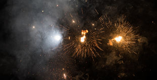 Exploding Fireworks Space background Royalty Free Stock Photography