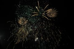 Generic fireworks, Lichfield UK stock photos