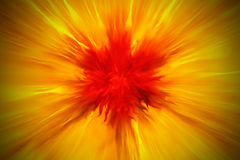 Exploding flaming blur Stock Images