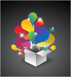 Exploding gift box Stock Images