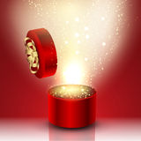 Exploding gift box Royalty Free Stock Photography