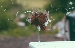Exploding glass Royalty Free Stock Images