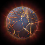 Exploding globe. An exploding globe background illustration Royalty Free Stock Photos