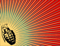 Exploding Grenade Background Royalty Free Stock Images